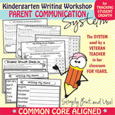 Kindergarten Writing Workshop Parent Communication Packet {Common Core Aligned}