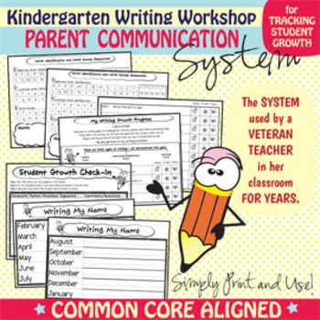 Kindergarten Writing Workshop Parent Communication Packet {Common Core Aligned}