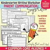 Kindergarten Writing Workshop Parent Communication Packet