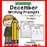 Kindergarten Writing prompts: Opinion Writing & Picture prompts (December)