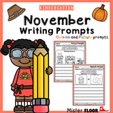 Kindergarten Writing prompts: Opinion Writing & Picture prompts (November)