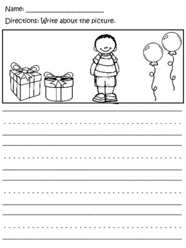 Kindergarten Writing (with picture prompts!)