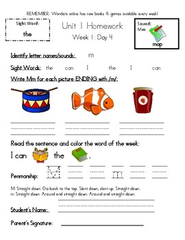 Kindergarten Year Homework