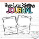 Kindergarten Year Long Writing Portfolio