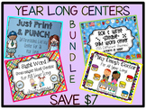 Kindergarten Year Round Centers BUNDLE!