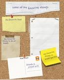 Kindergarten Yearbook page - Favorite things