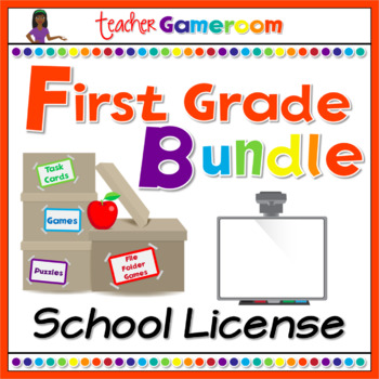 First Grade Powerpoint Game Bundle - School License