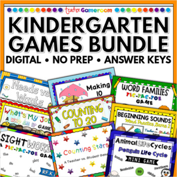 kindergarten powerpoint game bundle single license by teacher gameroom