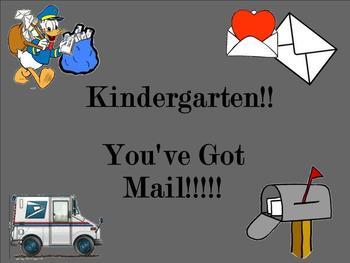 Kindergarten:  You've Got Mail! (Reading Ta, Ti-Ti, Z)
