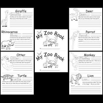 kindergarten zoo animals worksheets by kindergarten supplies tpt. Black Bedroom Furniture Sets. Home Design Ideas