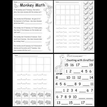 Kindergarten Zoo Animals Worksheets