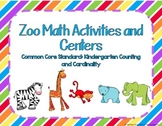 Kindergarten Zoo Math Activities and Centers Common Core Aligned