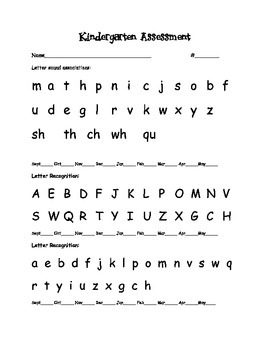 Kindergarten all year assessment