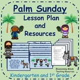 Kindergarten and 1st Grade Easter Lesson Plan and PowerPoint - Palm Sunday