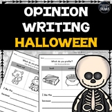 Kindergarten and 1st Grade Halloween Opinion Writing Printables