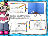 "Writing Workshop ""I can"" Goal Cards for Kindergarten and 1"