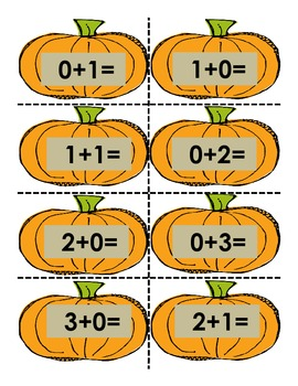 Kindergarten and Beginning First Grade Pumpkin Math (Addition Sort)