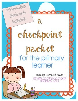 Kindergarten and First Grade Assessment Checkpoint Pack