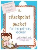 Kindergarten and First Grade Assessment Checkpoint Pack