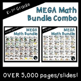 Kindergarten and First Grade MEGA Math Bundle Combo (Standards Aligned)