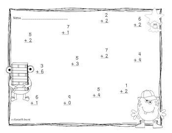 Kindergarten and First Grade Math Activities: Math Clothespin Match & Printables