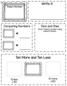 Kindergarten and First Grade Math Morning Work