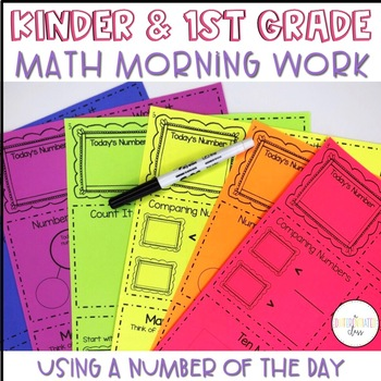 Kindergarten and First Grade Math Morning Work
