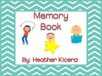 Kindergarten and First Grade Memory Book
