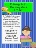 Kindergarten Morning Work (2nd Set) For Middle of the Year