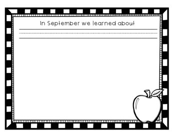 Kindergarten and First Grade Over the Year Memory Books