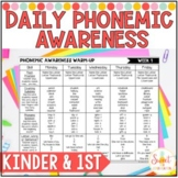 Kindergarten and First Grade Phonemic Awareness Daily Warm