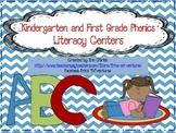 Kindergarten and First Grade Phonics Center Activities (Co