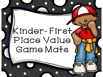 Kindergarten and First Grade Place Value Game Mats