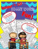 Kindergarten and First Grade Sight Word Activity Sheet