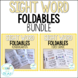 Kindergarten and First Grade Sight Word Foldables BUNDLE