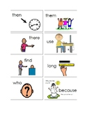 Kindergarten and First Grade Sight Word Picture Cards