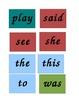 Kindergarten and First Grade Site Words