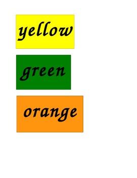 Kindergarten and First Grade Site Words