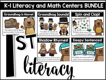 Kindergarten and First Grade Themed Literacy and Math Centers