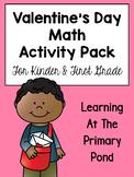 Valentine's Day Math Centers and Activities {Kindergarten & First Grade}