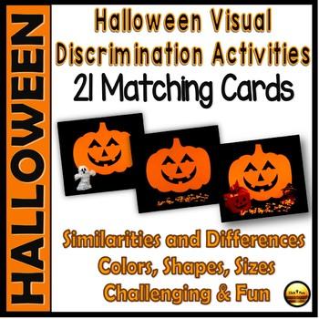Kindergarten and First Grade Visual Matching Activities for HALLOWEEN Set 3