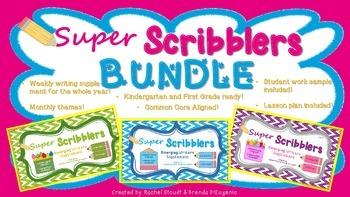 Kindergarten and First Grade Writing BUNDLE – Super Scribblers!