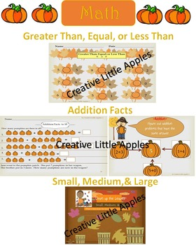 Fall: {Harvest Time} Kinder and First grade Math and Literacy Packet