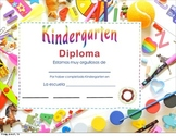 Kindergarten and First grade Spanish Diplomas. Diplomas en