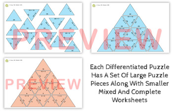 Addition Small and Large Tarsia Puzzle Activity