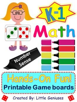 Kindergarten and Grade One Number Sense Math Games ~ A Bundle of Fun!