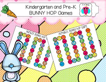 Kindergarten and Pre-K Bunny Hop Games