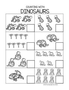 Kindergarten and Pre-K Counting Worksheets