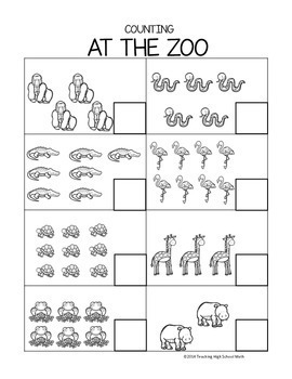 Kindergarten and Pre-K Counting Worksheets