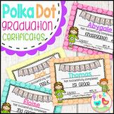 Graduation Certificates - Polka Dot